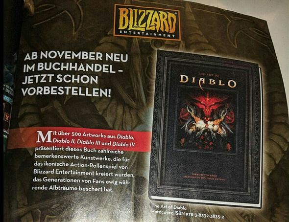 הפרסום שנחשף במגזין הגרמני, ומתייחס לדיאבלו 4