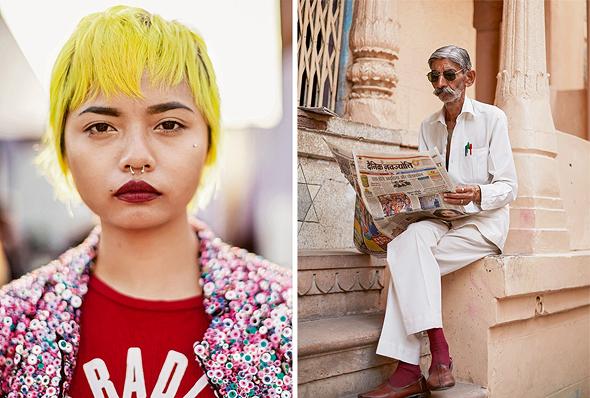 צילומים מהודו של סקוט שומאן מתוך הספר. להציג את הודו המסורתית והמודרנית, צילום: Reuel Golden