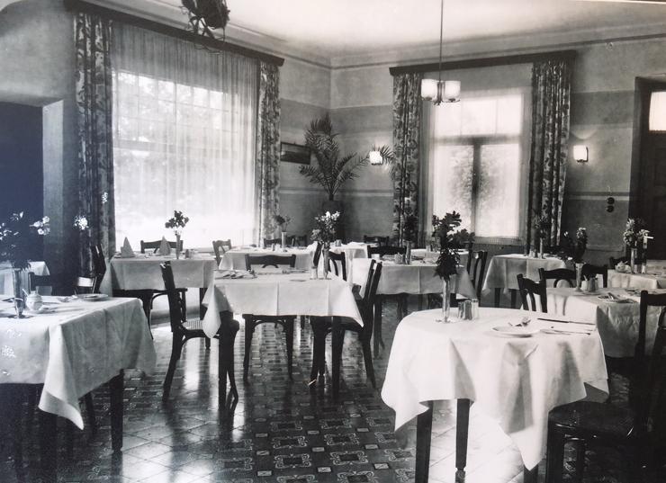חדר האוכל במלון אפינגר