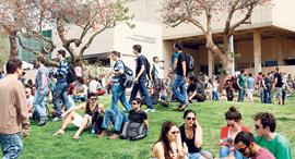 """סטודנטים אוניברסיטת ת""""א, צילום: נמרוד גליקמן"""