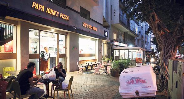 סניף פאפא ג'ונס בתל אביב. הסניף בנתניה נסגר לפני כמה חודשים, צילום: אוראל כהן