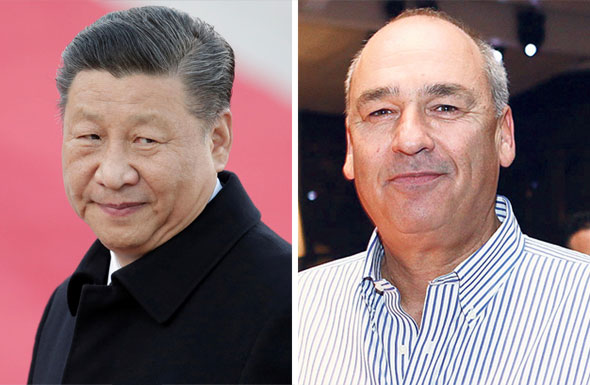Chinese president Xi Jinping (left). Photo: Reuters. Viola co-founder Harel Beit-On. Photo: Orel Cohen