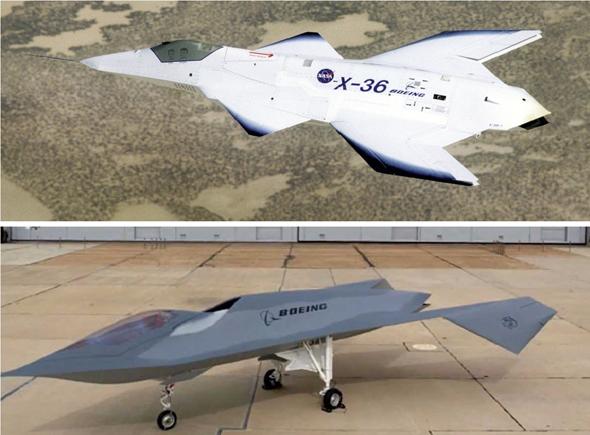 """מטוסי הניסוי של ארה""""ב, בעלי תצורות שאימצה איראן"""
