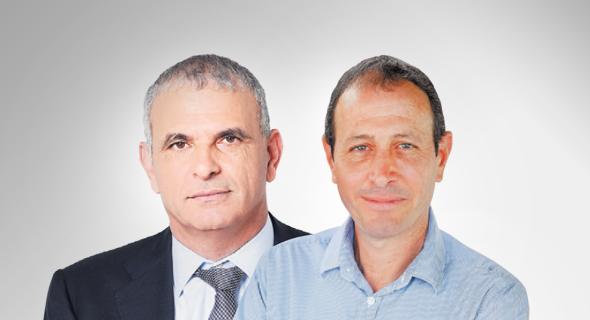 מימין: ראש עיריית עכו שמעון לנקרי ושר האוצר משה כחלון