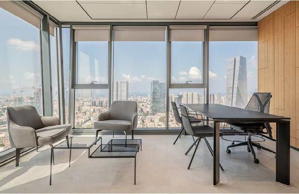 """הקומה ה-31 של חברת WeBiz, קרדיט: יח""""צ"""