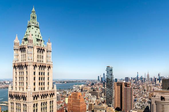 פנטהאוז למכירה בניין וולוורת' Woolworth מנהטן ניו יורק , צילום הדמייה: Williams New York