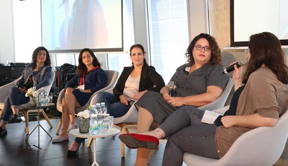 ועידת HR מימין: אלונה איל פריד, עמית דניאל, רותם אמתי וקרן מסד