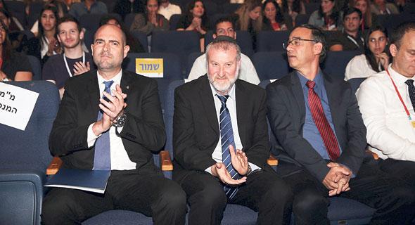 """שר המשפטים אמיר אוחנה, היועמ""""ש אביחי מנדלבליט, פרקליט המדינה שי ניצן, צילום: אוראל כהן"""