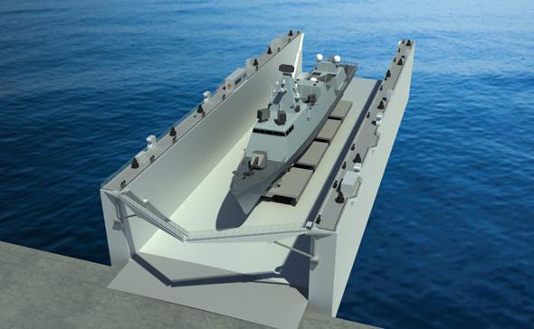 הדמיית המבדוק הצף של מספנות ישראל, הדמיה: משרד הביטחון