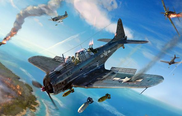 איור מטוסי דונטלס בפעולה