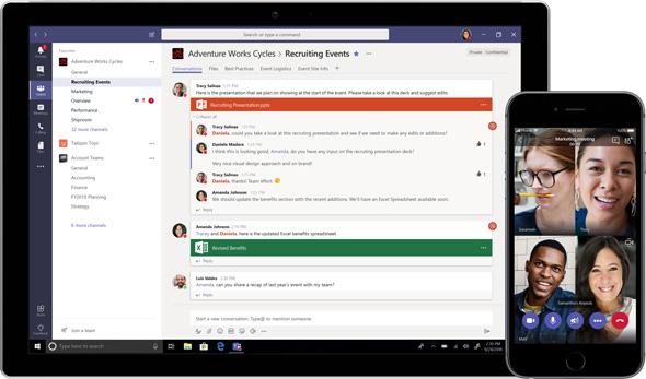אפליקציית Microsoft Teams, Microsoft