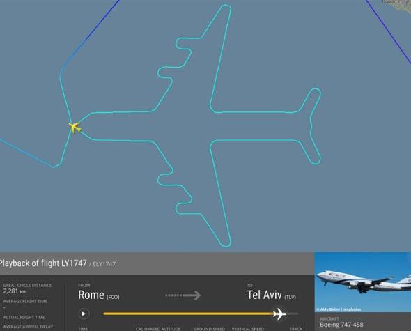 צורת המטוס שעשה הג