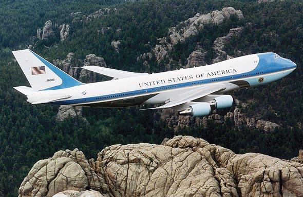 """אייר פורס וואן, אחד משישה מטוסי ג'מבו של ממשלת ארה""""ב"""