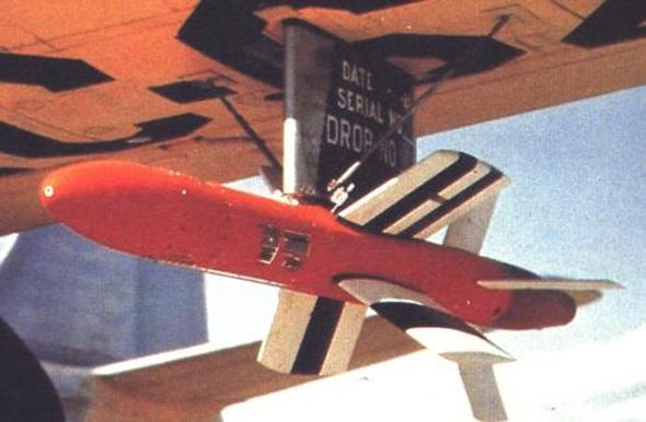 טיל ה-FireBird האמריקאי מ-1947, דגם מונחה תיל שנשען על ה-X4 הגרמני, צילום: USAF