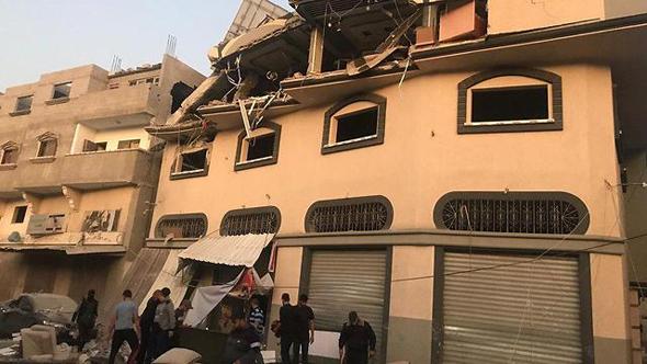 הבית שהותקף בעזה