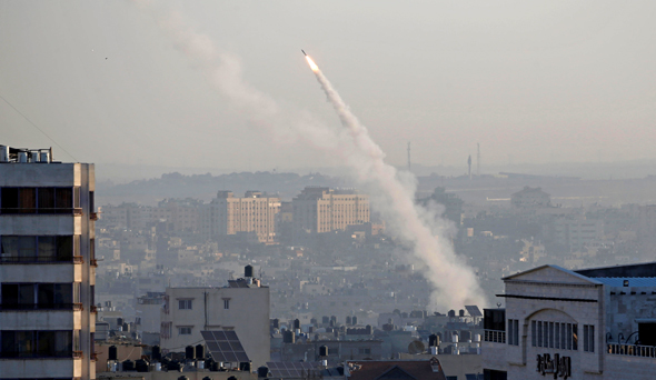 Rocket fired from Gaza. Photo: Reuters