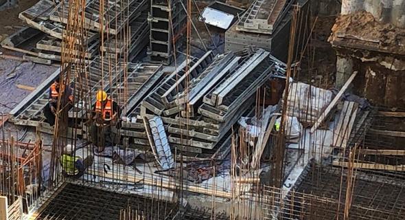 אתר בנייה, צילום: נעה קסלר