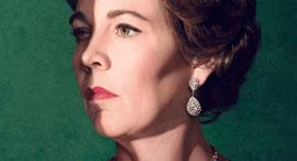 """אוליביה קולמן כמלכה אליזבת בכרזה ל""""הכתר"""""""