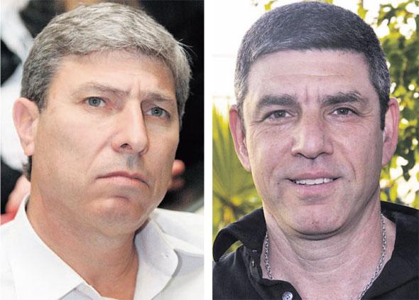 מימין: החשודים רון מצר, מחברת מצר EDCS וראש עיריית קריית אתא יעקב פרץ , צילומים: פייסבוק, גיל נחושתן