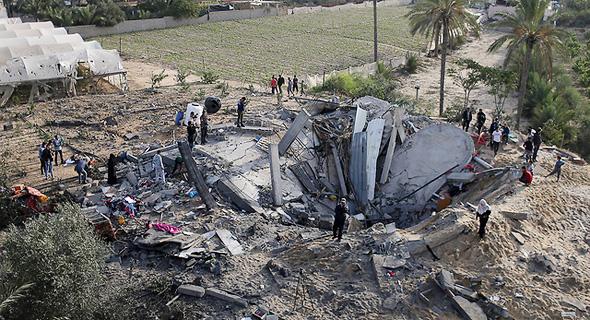 מבנים שהותקפו ברצועת עזה