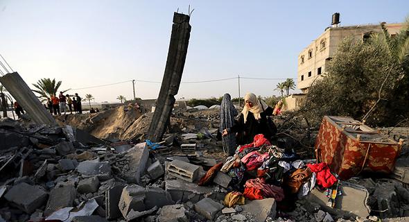 מבנים שהותקפו ברצועת עזה , צילום: רויטרס