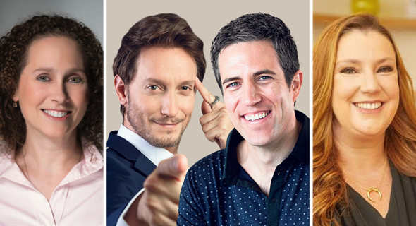 Shiri Dolev (left), Lior Suchard and Yossi Wolf, and Jeremi Gorman