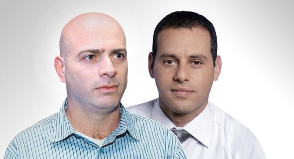 """מימין: מנכ""""ל הפניקס אייל בן סימון ויו""""ר הלמן־אלדובי רמי דרור, צילום: עמית שעל , אסנת קרסנסקי"""