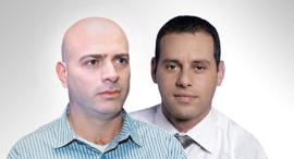 """מימין: מנכ""""ל הפניקס אייל בן סימון ויו""""ר הלמן אלדובי רמי דרור, צילום: עמית שעל , אסנת קרסנסקי"""