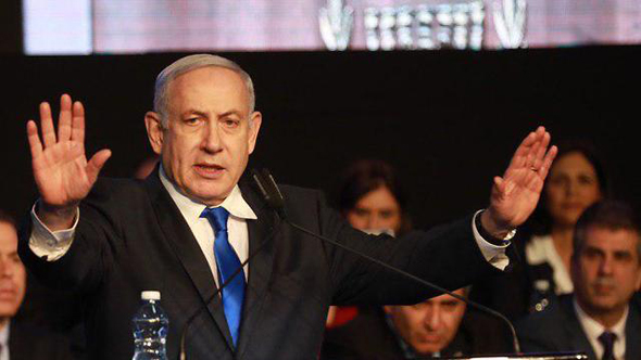 Israeli Prime Minister Netanyahu, indicted in in three separate corruption cases. photo: Tal Shahar