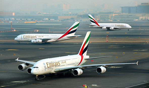 חברת תעופה אמירייטס איירבוס A380, צילום: Emirates