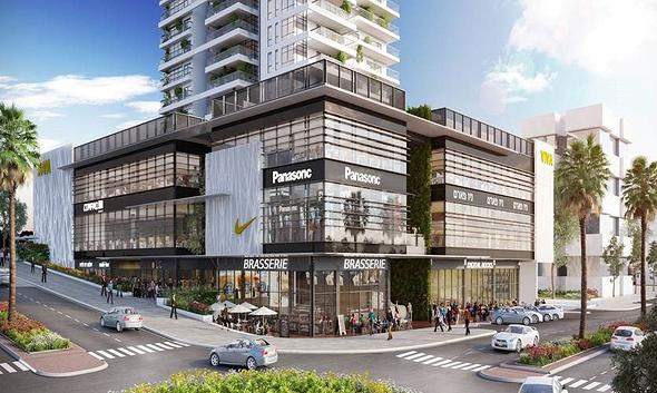 הדמיה של המרכז המסחרי ויוה חדרה, צילום: באדיבות מגדל
