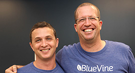 BlueVine co-founders Eyal Lifshitz (left) and Nir Klar. Photo: PR