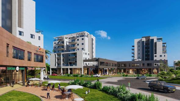 הדמיית הפרויקט בשכונת פארק הנחל בבאר שבע. כולל 194 דירות, מתוכן 118 במסגרת מחיר למשתכן