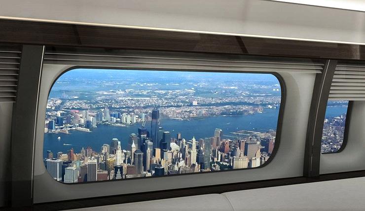 חלון רחב שתוכנן למטוס המנהלים של בואינג, צילום: GKN Aerospace