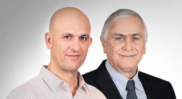 גיורא בר דעה ו אייל דרור מנכל שטראוס ישראל, צילום: סיון פרג'