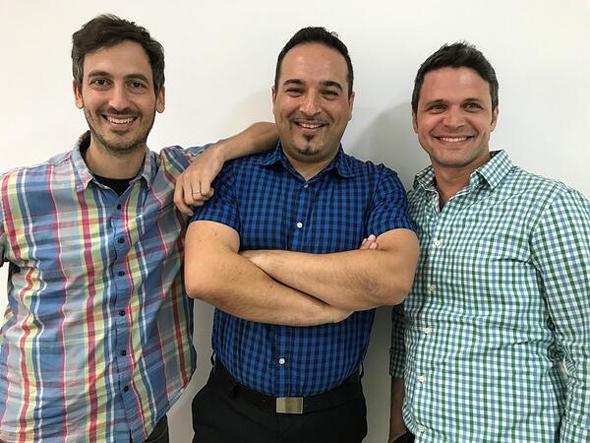 Loom Systems founders Ronny Lehmann (left), Gabby Menachem, and Dror Mann. Photo: Loom Systems