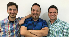 Loom Systems founders Ronny Lehmann (left), Gabby Menachem, and Dror Mann. Photo: Loom Systems