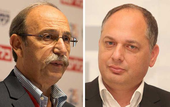 """המנכ""""ל והיו""""ר החדשים של הגשמה: רונן טורם ועוזי דנינו, צילום: אוראל כהן"""