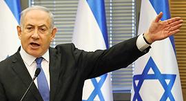 ראש הממשלה בנימין נתניהו מגיב לכתבי האישום, צילום: איי פי