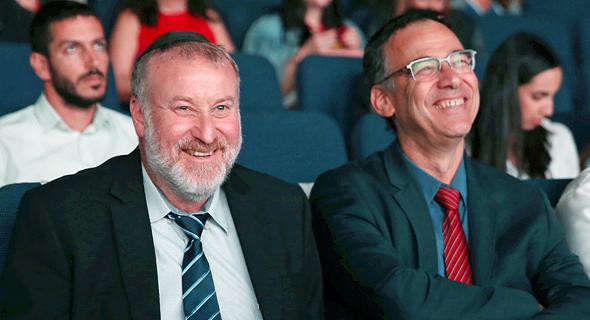 מימין פרקליט המדינה שי ניצן ו היועץ המשפטי לממשלה אביחי מנדלבליט, צילום: אוראל כהן