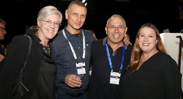 מימין ג'רמי גורמן, פנחס בוכריס, דני ימין ופיונה דרמון, צילום: אוראל כהן