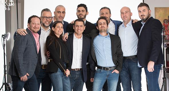 Cymunate's team. Photo: Alon Matzkin