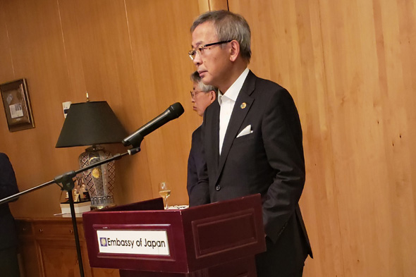 NTT Chairman Shinohara Hiromichi. Photo: Adi Pick