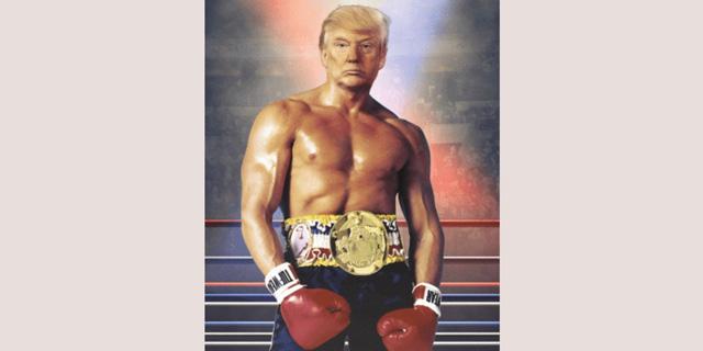 טראמפ פירסם תמונה שלו כרוקי בלבואה - וגרם לטרפת ברשת