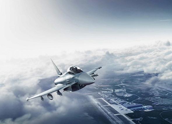 טייפון באוויר, צילום: Airbus