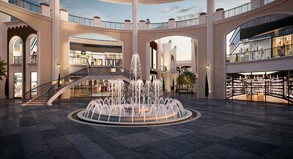 מתחם דיזיין סיטי. נגישות תחבורתית שתתבטא ב-1,400 מקומות חניה ובמערך שאטלים קבוע  , הדמיה: 3DVISION