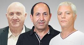מימין איתן יוחננוף רמי לוי ו איציק אברכהן, צילומים: אוראל כהן, עמית שעל, דנה קופל