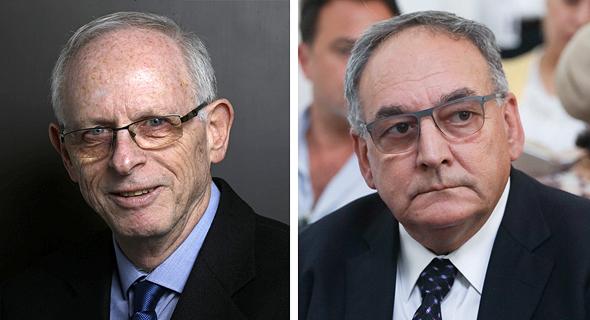 """מימין: מנכ""""ל הדסה זאב רוטשטיין ומנכ""""ל כללית אהוד דודסון"""