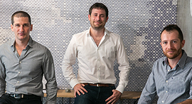 Indegy founders Ido Trivizki (left), Barak Perelman, and Mille Gandelsman. Photo: Yotam Ronen