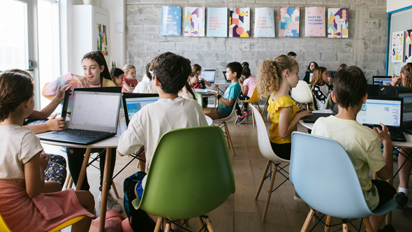 Hour of Code event in Israel. Photo: Alan Tzatzkin